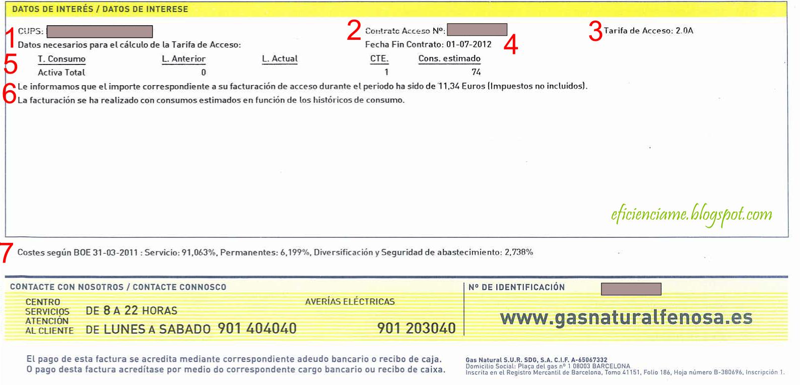 Factura Unión Fenosa