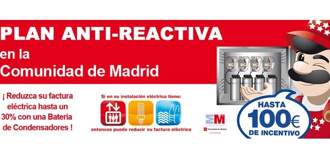 Ayudas para reducir la energía reactiva en la Comunidad de Madrid