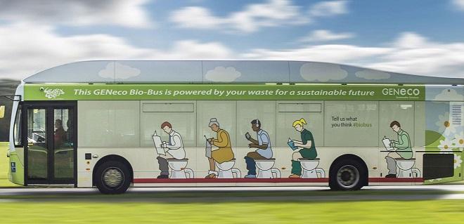 El Biobús o caca-bus: el autobús impulsado por heces humanas